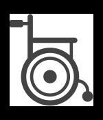 Afbeelding van een rolstoel, symbolisch voor het grote aantal vroeggeboren kinderen dat blijvende schade over houd