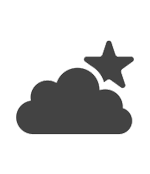 Afbeelding van een wolk met ster, symbolisch voor de grote sterfte onder vroeggeboren kinderen